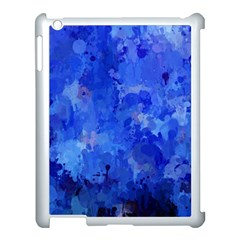 Splashes Of Color, Blue Apple Ipad 3/4 Case (white) by MoreColorsinLife