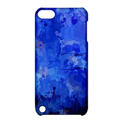 Splashes Of Color, Blue Apple Ipod Touch 5 Hardshell Case With Stand by MoreColorsinLife