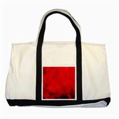 Splashes Of Color, Deep Red Two Tone Tote Bag  by MoreColorsinLife