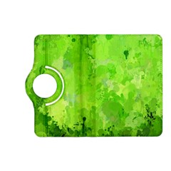 Splashes Of Color, Green Kindle Fire Hd (2013) Flip 360 Case by MoreColorsinLife