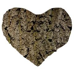 GREY TREE BARK Large 19  Premium Heart Shape Cushions by trendistuff