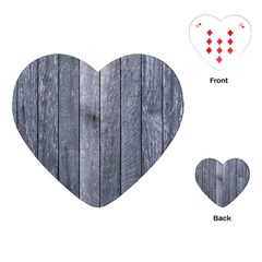 GREY FENCE Playing Cards (Heart)