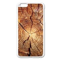 Cross Section Of An Old Tree Apple Iphone 6 Plus/6s Plus Enamel White Case by trendistuff