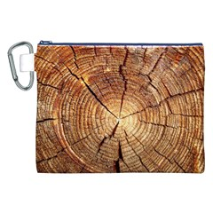 Cross Section Of An Old Tree Canvas Cosmetic Bag (xxl)  by trendistuff