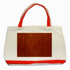 Bamboo Dark Classic Tote Bag (red)  by trendistuff