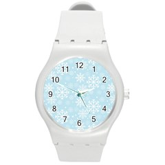 Frosty Round Plastic Sport Watch (m) by Kathrinlegg