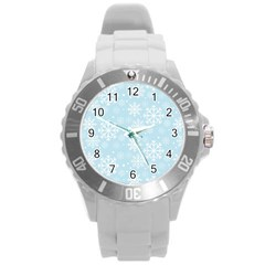Frosty Round Plastic Sport Watch (l) by Kathrinlegg