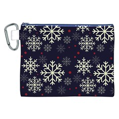 Snowflake Canvas Cosmetic Bag (xxl)  by Kathrinlegg