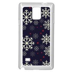 Snowflake Samsung Galaxy Note 4 Case (white) by Kathrinlegg