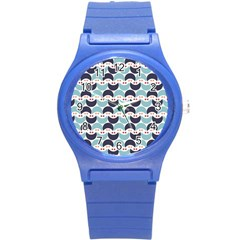 Moon Pattern Round Plastic Sport Watch (s) by Kathrinlegg