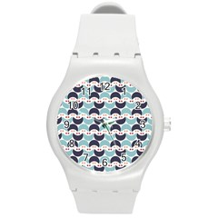 Moon Pattern Round Plastic Sport Watch (m) by Kathrinlegg
