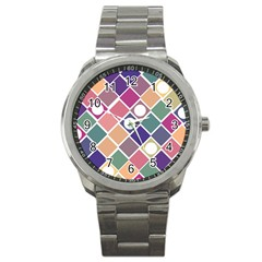 Dots And Squares Sport Metal Watches by Kathrinlegg