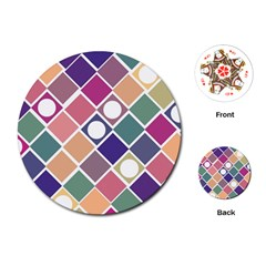 Dots And Squares Playing Cards (round)  by Kathrinlegg
