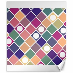 Dots and Squares Canvas 8  x 10  by Kathrinlegg