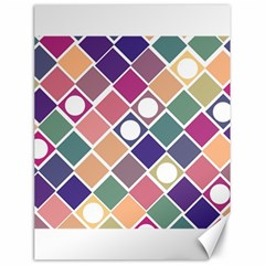 Dots And Squares Canvas 18  X 24   by Kathrinlegg