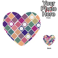 Dots And Squares Multi Purpose Cards (heart)  by Kathrinlegg