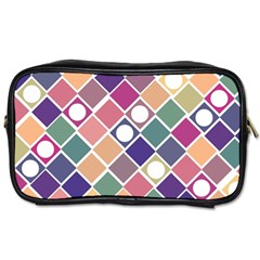 Dots And Squares Toiletries Bags 2 Side by Kathrinlegg