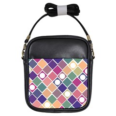 Dots and Squares Girls Sling Bags