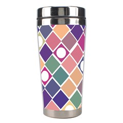 Dots And Squares Stainless Steel Travel Tumblers by Kathrinlegg