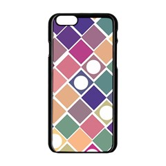Dots And Squares Apple Iphone 6/6s Black Enamel Case by Kathrinlegg