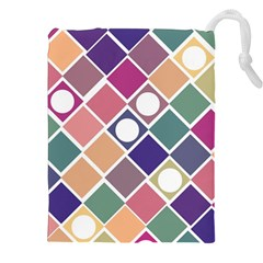 Dots and Squares Drawstring Pouches (XXL) by Kathrinlegg
