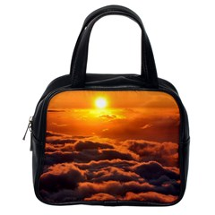 Sunset Over Clouds Classic Handbags (one Side) by trendistuff