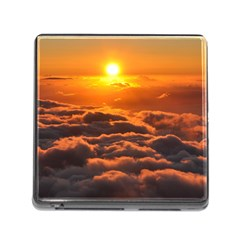 Sunset Over Clouds Memory Card Reader (square) by trendistuff