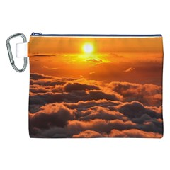 SUNSET OVER CLOUDS Canvas Cosmetic Bag (XXL)  by trendistuff