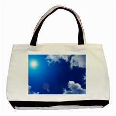 SUN SKY AND CLOUDS Basic Tote Bag (Two Sides)  by trendistuff