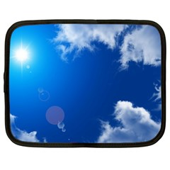 SUN SKY AND CLOUDS Netbook Case (Large) by trendistuff