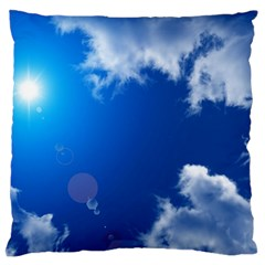 Sun Sky And Clouds Large Flano Cushion Cases (two Sides)  by trendistuff
