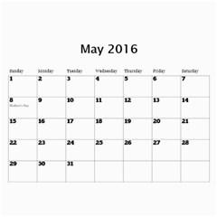 Ban Xua 2 By Phuong Duong   Wall Calendar 11  X 8 5  (12 Months)   Zw83xilr8jpv   Www Artscow Com May 2016