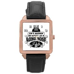 Long Nose Pete Rose Gold Leather Watch  by teambridelasvegas
