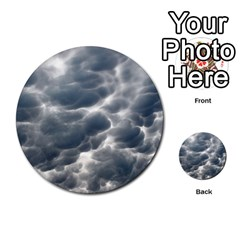 Storm Clouds 2 Multi Purpose Cards (round)  by trendistuff