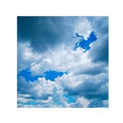 Cumulus Clouds Small Satin Scarf (square)  by trendistuff