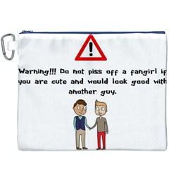 Warning! Fangirl Canvas Cosmetic Bag (xxxl)  by girlwhowaitedfanstore