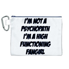 High Functioning Fangirl Canvas Cosmetic Bag (xl)  by girlwhowaitedfanstore