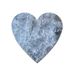 Watery Ice Sheets Heart Magnet by trendistuff