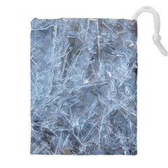 Watery Ice Sheets Drawstring Pouches (xxl)
