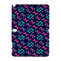 Pink and blue shapes pattern Samsung Galaxy Note 10.1 (P600) Hardshell Case by LalyLauraFLM