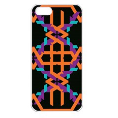Juxtaposed Shapes Apple Iphone 5 Seamless Case (white) by LalyLauraFLM