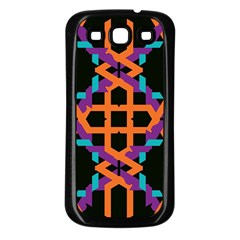 Juxtaposed shapes Samsung Galaxy S3 Back Case (Black)