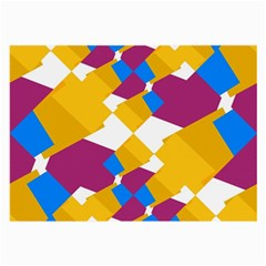 Layered Shapes Large Glasses Cloth (2 Sides) by LalyLauraFLM