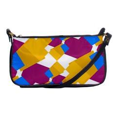 Layered Shapes Shoulder Clutch Bag by LalyLauraFLM