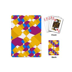 Layered Shapes Playing Cards (mini) by LalyLauraFLM