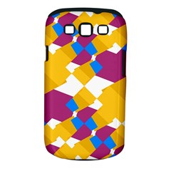 Layered shapes Samsung Galaxy S III Classic Hardshell Case (PC+Silicone) by LalyLauraFLM