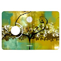 She Open s to the Moon Kindle Fire HDX Flip 360 Case by theunrulyartist