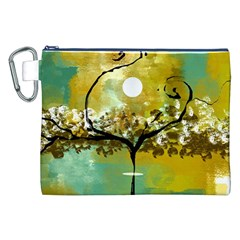 She Open s To The Moon Canvas Cosmetic Bag (xxl)  by theunrulyartist