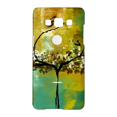 She Open s To The Moon Samsung Galaxy A5 Hardshell Case  by theunrulyartist