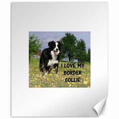 Border Collie Love W Picture Canvas 8  x 10  by TailWags